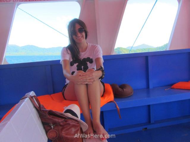 el nido transporte 2. pili el ferry barco de coron, palawan filipinas. view boat philippines