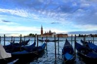 Gondolas before St Giorgio Maggiore Basilica, Venice, Italy