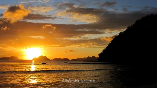 EL NIDO MARIMEGMEG LAS CABANAS BEACH PLAYA 7. puesta de sol sunset Palawan, Filipinas, Philippines