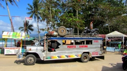 Beautiful jumbo jeepney Puerto - Sabang, Palawan, The Philippines