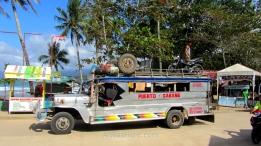 Beautiful jumbo jeepney Puerto - Sabang, Palawan, The Philippines