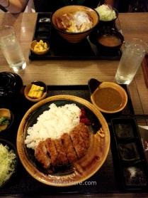 Katsudon in a restaurant in Greenbelt Mall, Makati, Manila