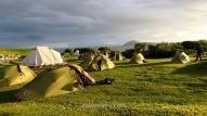 Tents in Mývatn campsite, Iceland