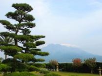 Sakurajima from Sengan-en Garden, Kagoshima, Kyushu, Japan