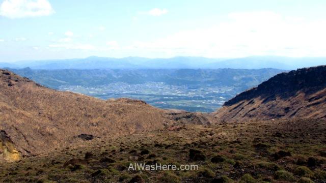 MONTE ASO 1. Vista de la Caldera view Asosan Mount, Kyushu, Japon, Japan