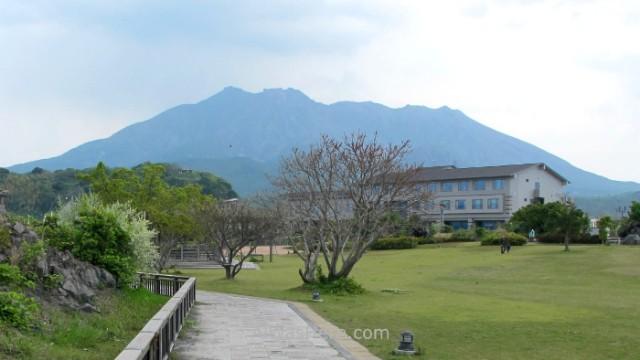 Sakurajima 2. Magma Onsen y volcan Kyushu, Japon Japan