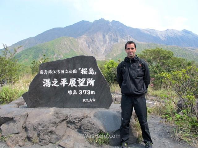 Sakurajima 8. mirador Yunohira lookout point volcano alwashere Kyushu, Japon Japan