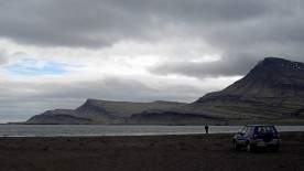 4WD on a beach, Iceland