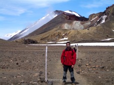 Me in the Tongariro Alpine Crossing, New Zealand