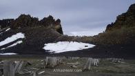 Edge of the caldera, Whalers Bay, Deception Island, Antarctica