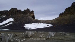 Edge of the caldera, Whalers Bay, Deception Island, Antarctica