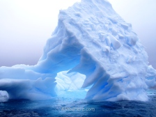 Blue iceberg, Cuverville Island, Antarctica