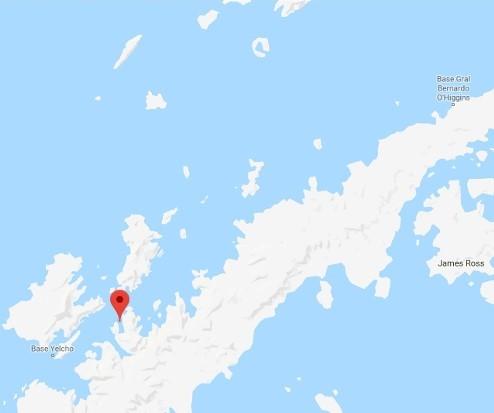 Isla Cuverville Mapa 2